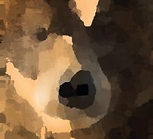brown bear abstract by thelazypigeon