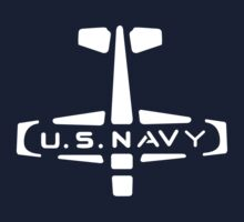 U.S. NAVY Stamp (White) by warbirdwear