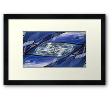 Auto Abstract - Blue Symmetry with Figures Framed Print