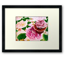 Cupcakes and Roses Framed Print
