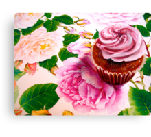 Cupcakes and Roses Canvas Print