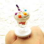 Ice Cream + Rainbow Candy - Food Ring by souzoucreations