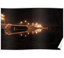 Lake Tuggeranong dam (by night) Poster