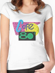 Back To The Cafe 80's Women's Fitted Scoop T-Shirt