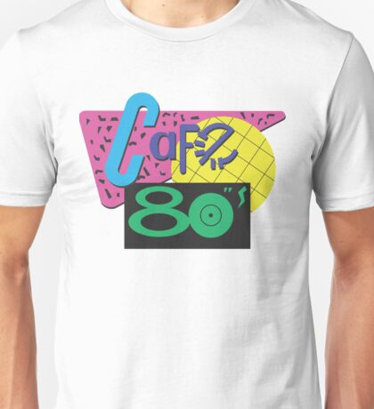 Cafe 80s Tee by Redbubble