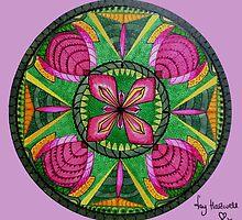 Stars & Flower Mandala  by Fay Hartwell