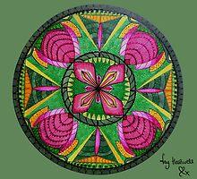 Stars & Flower Mandala Card by Fay Hartwell