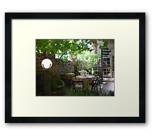 """Private dining at """"The Ruins"""" Framed Print"""