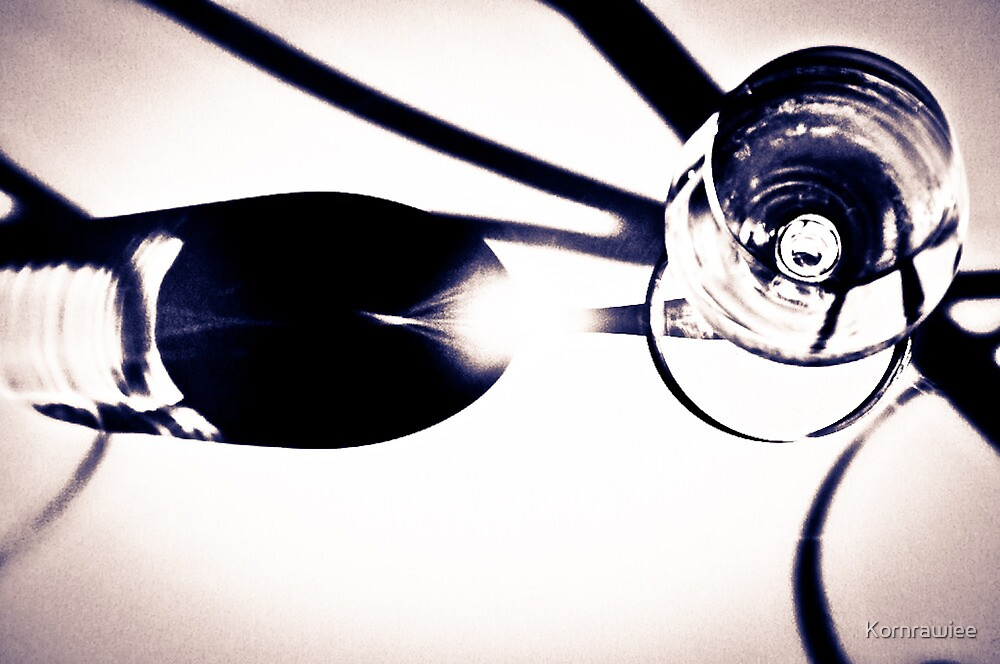 The glass, The Light and my camera... by Kornrawiee