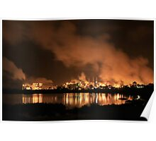 QAL Aluminium Refinery (by night) Poster