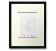 USGS Topo Map Oregon Red Mountain 20110818 TM Framed Print