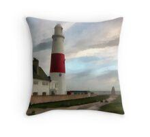 Portland Bill Lighthouse, Dorset, UK. Throw Pillow