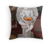 The Flower Angel Throw Pillow