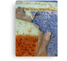 Rust and Blue - Peel Away Canvas Print