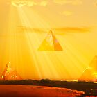Pyramids in the Sky by JonnisArt