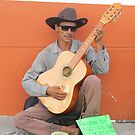 Guitarist - playing in the street of PV - El guitarrista - tocando en la calle de PV by Bernhard Matejka