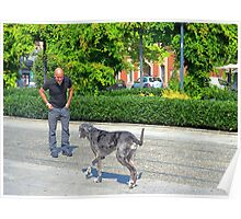 Man and Dog Poster