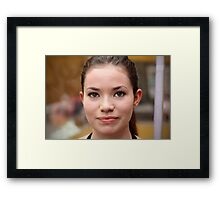Portrait Of A Stranger: 13 Framed Print