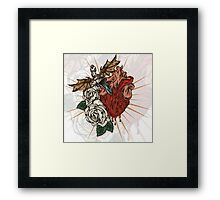Heart Knife Framed Print