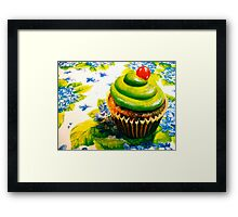 Cupcakes and Violets Framed Print