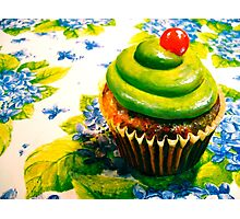 Cupcakes and Violets Photographic Print