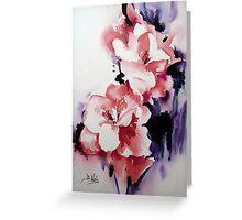 Abstract Gladioli Greeting Card