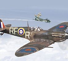 High Cloud Battle of Britain Spitfire by PAUL57