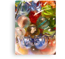 Marbles and Mason 6 Canvas Print