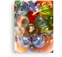 Marbles and Mason 6 Canvas Print