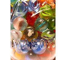 Marbles and Mason 6 Photographic Print