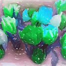 My tulips in pastels - blue-green by steppeland