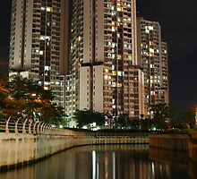 Apartemen Taman Rasuna (by night) by Property & Construction Photography