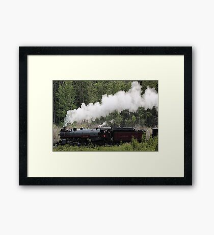 Whoo Hooo ---- #2816 Steam  Engine To Canmore Framed Print
