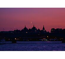 Moon over London Photographic Print