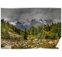 Alpine scene Poster