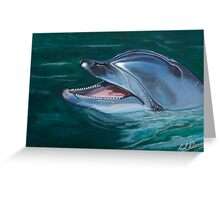 Bottle Nosed Smiling Dolphin. Greeting Card