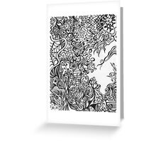 Gray Scale Abstract Greeting Card