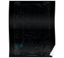 USGS Topo Map Oregon Rabbit Hills NE 281205 1966 24000 Inverted Poster