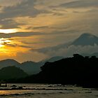 Cameroon Mountains & Ocean at Sunset by VioletHalo