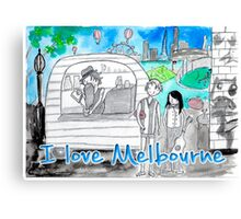 I love Melbourne Canvas Print