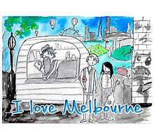 I love Melbourne Photographic Print