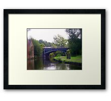 Down by the canal  Framed Print