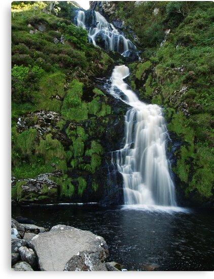 The Assarnacally Waterfall by WatscapePhoto