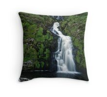 The Assarnacally Waterfall Throw Pillow