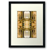 industrial collage V Framed Print
