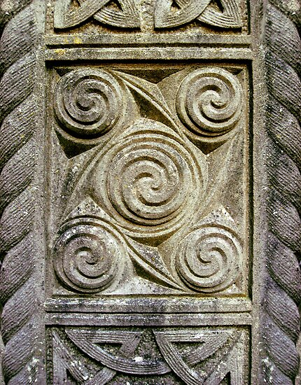 Quot celtic swirls stone carving by orla cahill