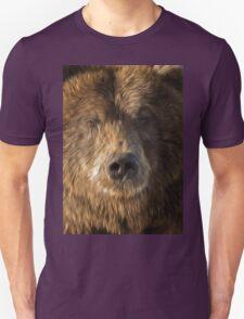brown bear abstract Unisex T-Shirt