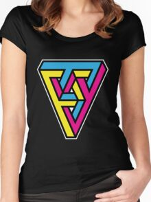 CMYK Triangle Women's Fitted Scoop T-Shirt