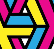 CMYK Triangle Sticker