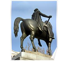 King George IV Statue in Trafalgar Square, London Poster